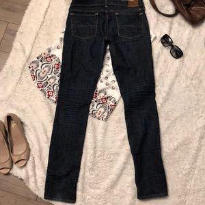 """Lucky Brand Zoey Skinny Dark Jeans Sz 6/28 x 32"""""""